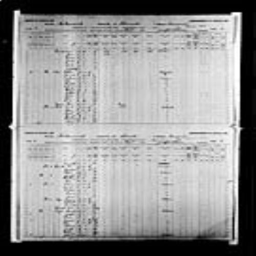Digitized page of Census of Canada, 1891, Page number 2-3, for Romain Legere