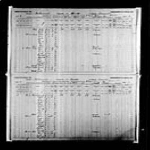 Digitized page of Census of Canada, 1891, Page number 8-9, for Augustin E Godin