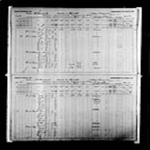 Digitized page of Census of Canada, 1891, Page number 32-33, for Charles Legere