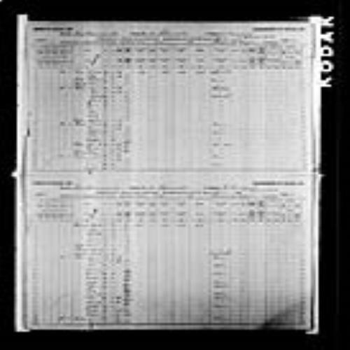 Digitized page of Census of Canada, 1891, Page number 2-3, for Osias Godin