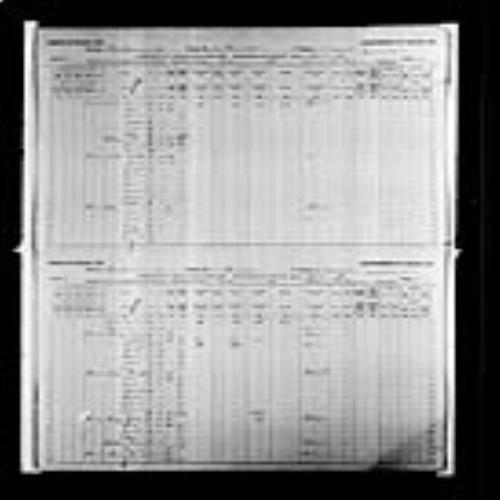Digitized page of Census of Canada, 1891, Page number 14-15, for Charles P Godin
