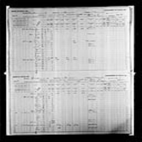 Digitized page of Census of Canada, 1891, Page number 34-35, for Hector Legere
