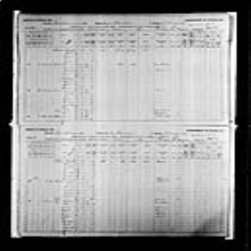 Digitized page of Census of Canada, 1891, Page number 36-37, for Charles Legere