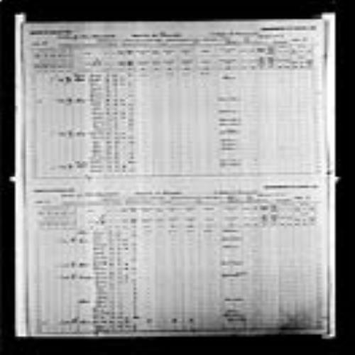 Digitized page of Census of Canada, 1891, Page number 10-11, for Agapit P Albert