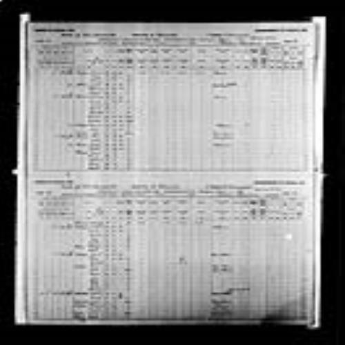 Digitized page of Census of Canada, 1891, Page number 18-19, for Jean P Lanteigne