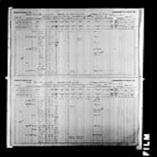 Digitized page of Census of Canada, 1891, Page number 28-29, for Dosity Blanchard