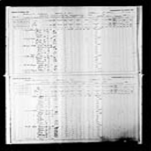 Digitized page of Census of Canada, 1891, Page number 20-21, for George Leblanc