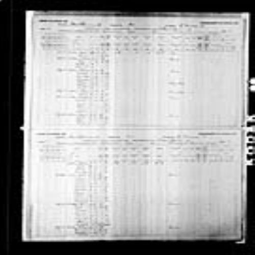 Digitized page of Census of Canada, 1891, Page number 6-7, for Ferdinand Leblanc