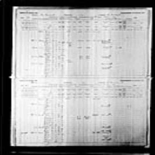 Digitized page of Census of Canada, 1891, Page number 22-23, for Maseime Vaneau