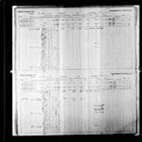 Digitized page of Census of Canada, 1891, Page number 26-27, for Amis Budreau