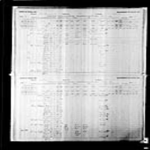 Digitized page of Census of Canada, 1891, Page number 30-31, for Joseph Billiveau