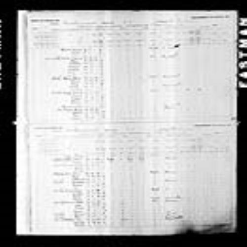 Digitized page of Census of Canada, 1891, Page number 54-55, for Polite Cormier