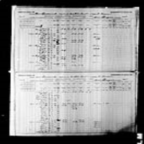 Digitized page of Census of Canada, 1891, Page number 8-9, for Edmond Bourque