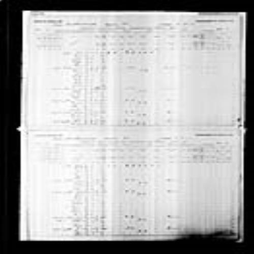Digitized page of Census of Canada, 1891, Page number 8-9, for Placide Leblanc