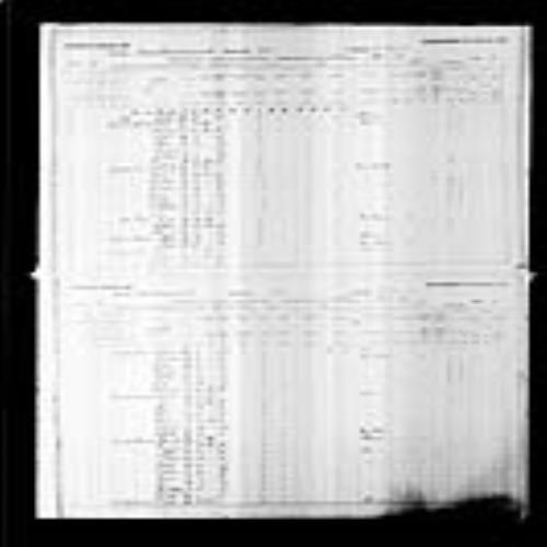 Digitized page of Census of Canada, 1891, Page number 38-39, for Thadee Boudre