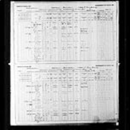Digitized page of Census of Canada, 1891, Page number 33, 40, for Marshall Graham