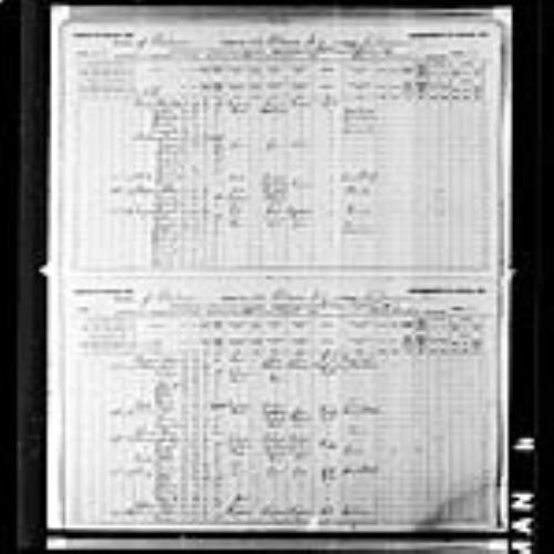 Digitized page of Census of Canada, 1891, Page number 46-47, for John Thomson