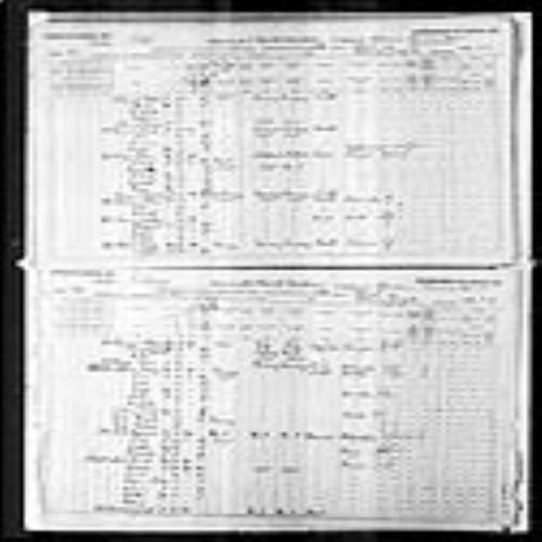 Digitized page of Census of Canada, 1891, Page number 71-74, for William Lyon MacKenzie King