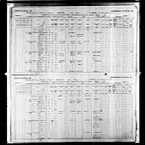 Digitized page of Census of Canada, 1891, Page number 31-34, for Mary Gerior