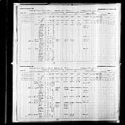 Digitized page of Census of Canada, 1891, Page number 30-31, for Rene Gallant