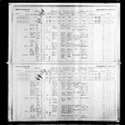 Digitized page of Census of Canada, 1891, Page number 4-5, for John Abbott