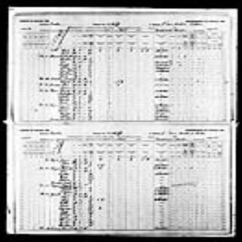 Digitized page of Census of Canada, 1891, Page number 20-21, for Jean Bte Plomondon