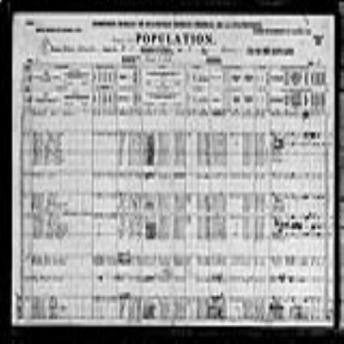 Digitized page of Census of Canada, 1921, Page number 1, for Anne Elizabeth Watkins