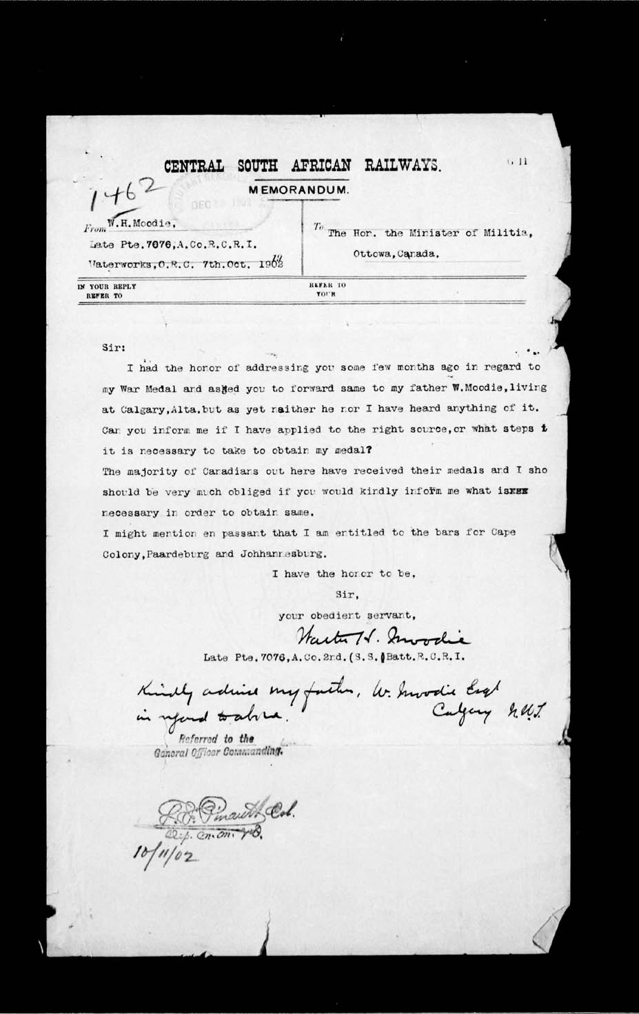 Digitized page of Boer War for Image No.: e002186722