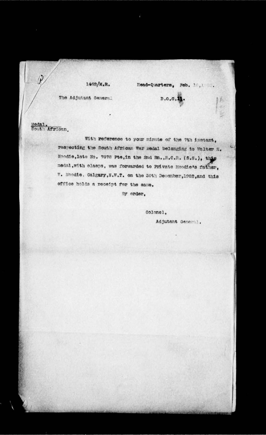 Digitized page of Boer War for Image No.: e002186728