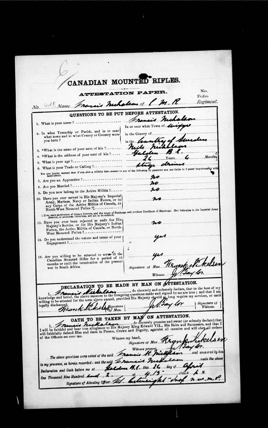 Page numérisé de Boer War pour l'image numéro: e002192894
