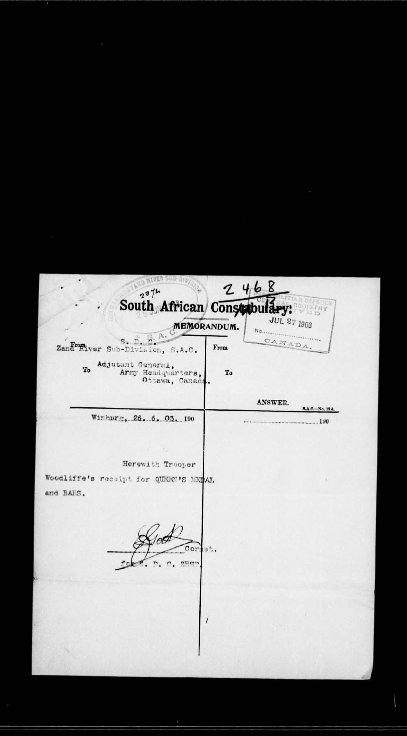 Digitized page of Boer War for Image No.: e002209621