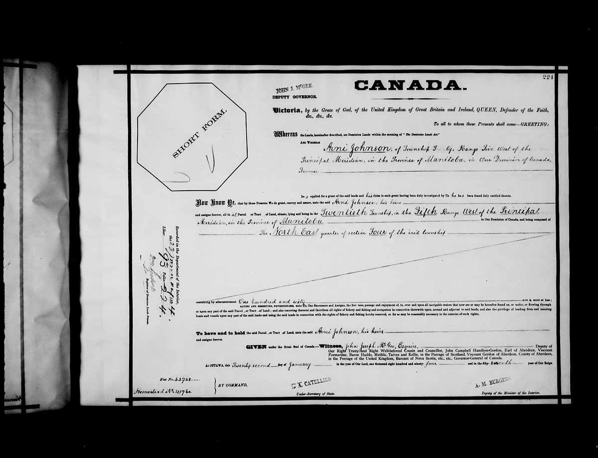 Item: Arni Johnson - Library and Archives Canada