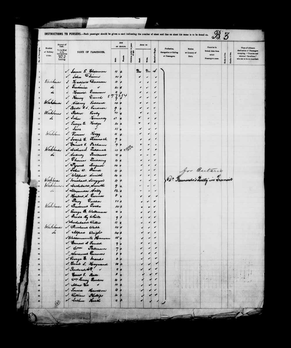 Digitized page of Passenger Lists for Image No.: e003658089