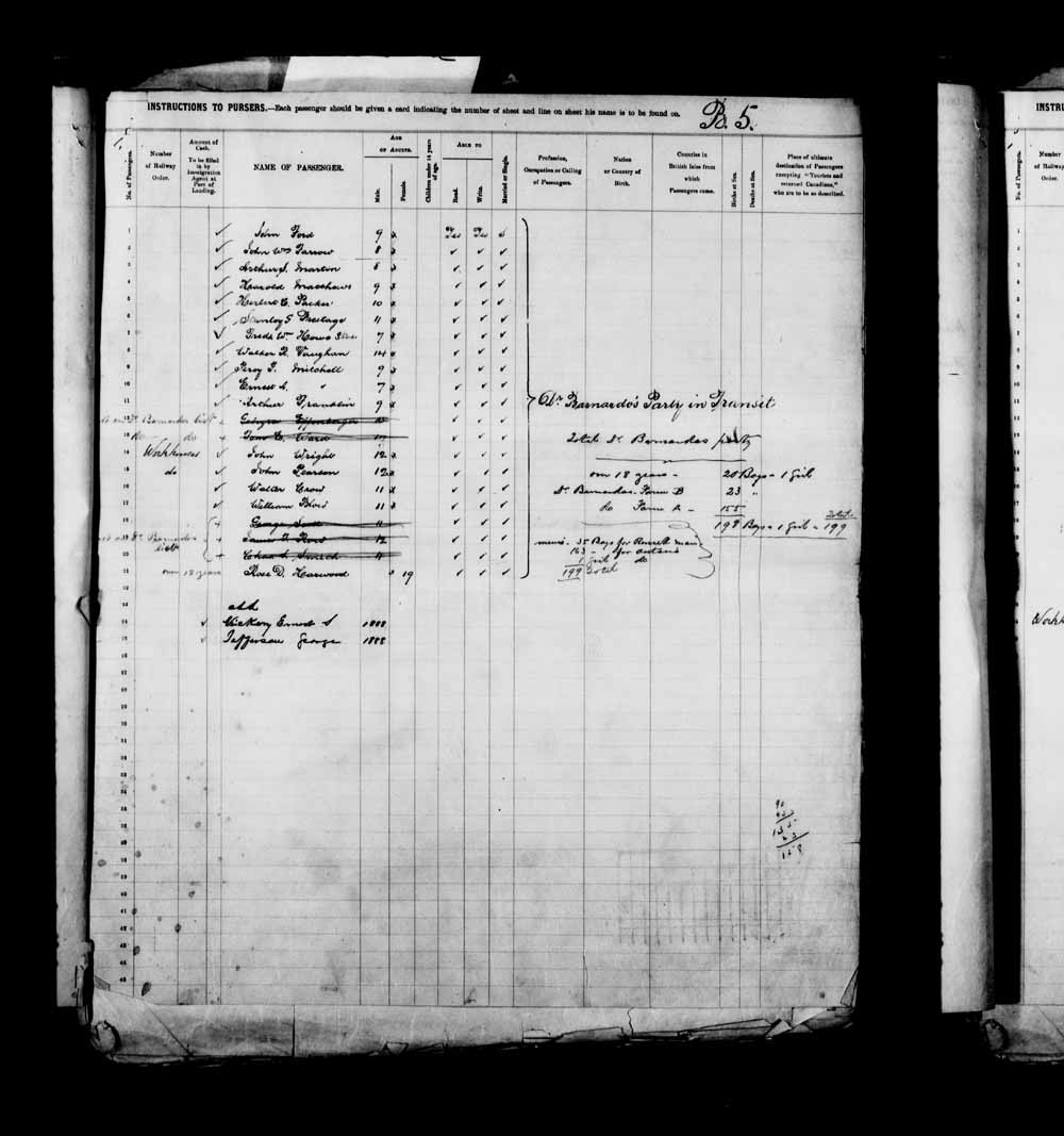 Digitized page of Passenger Lists for Image No.: e003658091