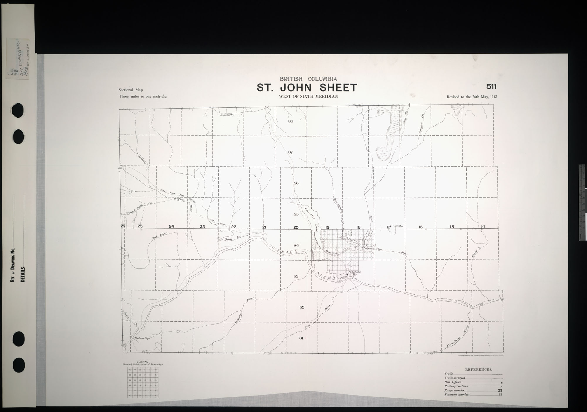 Digitized image of map no. 511, St. John, west of the sixth meridian, image number e004922602