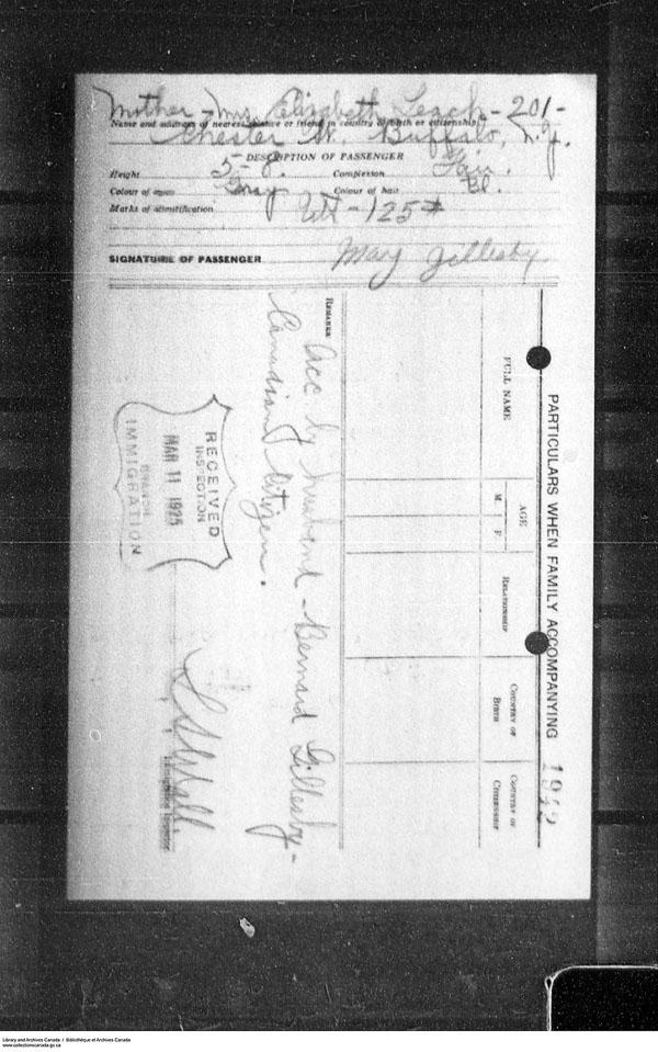 Border Entry, Form 30, 1919-1924 - Image 4637289