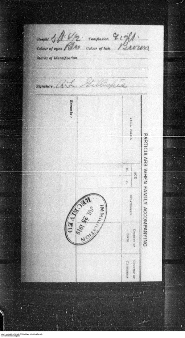 Border Entry, Form 30, 1919-1924 - Image 4637294