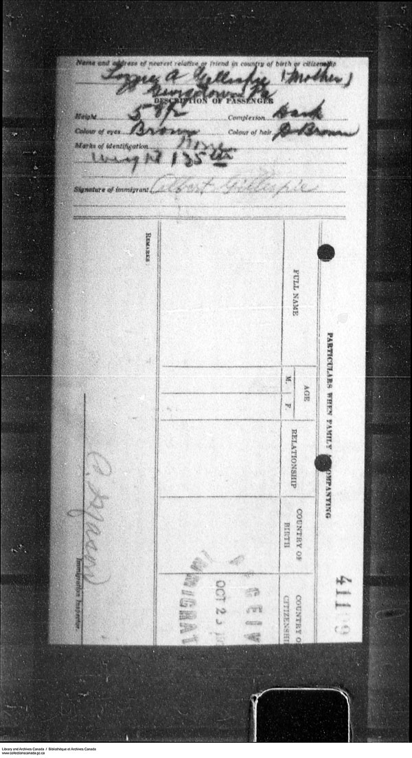 Border Entry, Form 30, 1919-1924 - Image 4637296