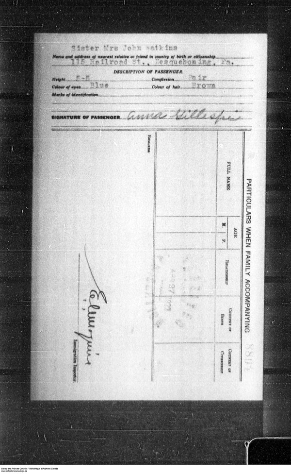 Border Entry, Form 30, 1919-1924 - Image 4637308