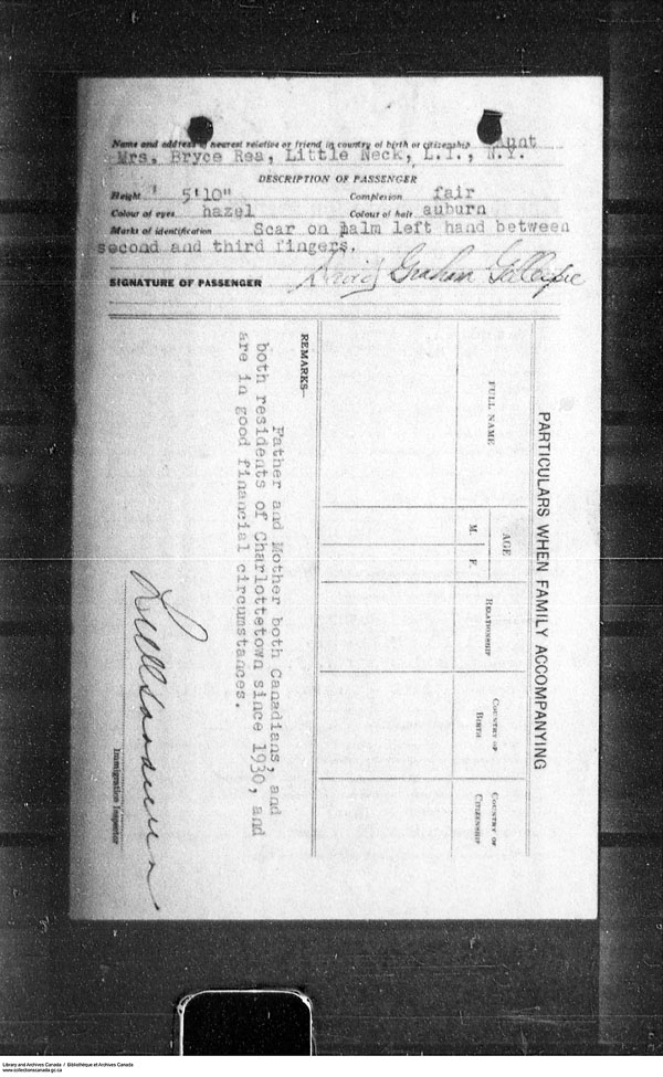Border Entry, Form 30, 1919-1924 - Image 4637318