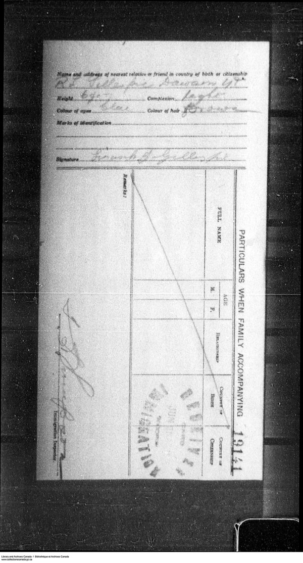 Border Entry, Form 30, 1919-1924 - Image 4637324