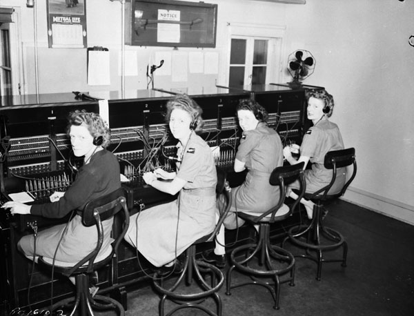 Station Telephone Exchange, R.C.A.F. Station Rockcliffe, Ontario, Canada, 23 June 1944.