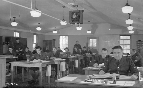 Pay and Accounts Section, Royal Canadian Air Force (R.C.A.F.) Station Rockcliffe, Ontario, Canada, 26 September 1944.