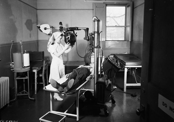 Medical Imaging Room at Air Force Headquarters, Ottawa, Ontario, Canada, 15 March 1945.