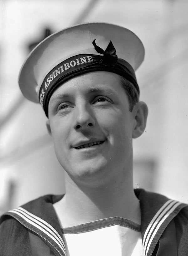 Leading Seaman Norman Lee of the destroyer H.M.C.S. ASSINIBOINE, Halifax, Nova Scotia, Canada, 1 November 1940.