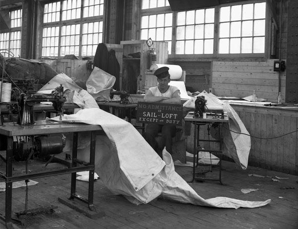Sailmaker's Shop, H.M.C.S. AVALON, St. John's, Newfoundland, 14 September 1943.