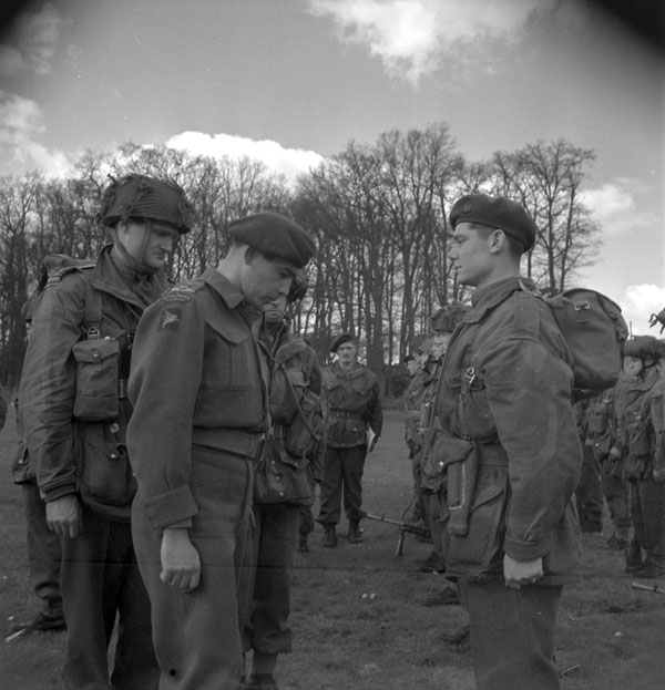 Lieutenant-Colonel G.F. Eadie inspecting