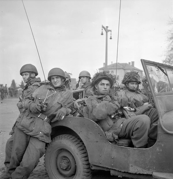 Personnel of the 1st Canadian Parachute Battalion, Greven, Germany, 4 April 1945.