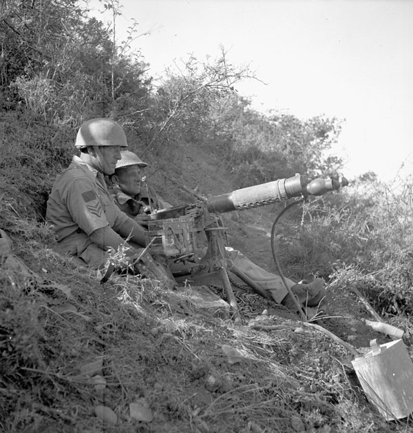 Machine gunners of The Saskatoon Light Infantry  (M.G.), Potenza, Italy, 20 September 1943.