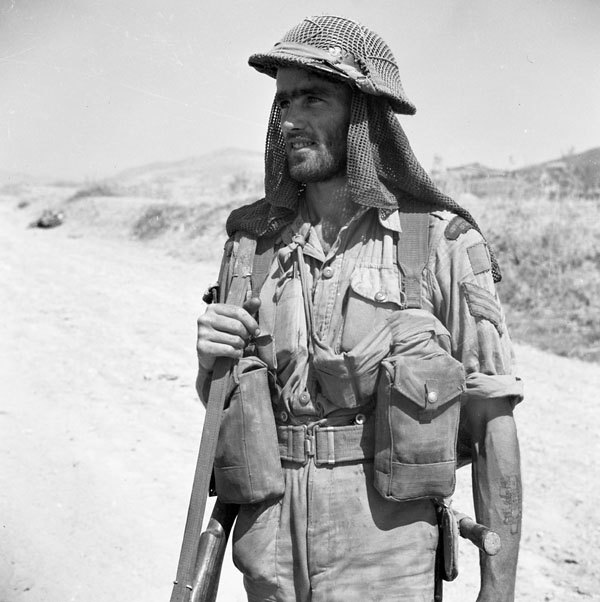 Sgt. H.E. Cooper, 48th Highlanders of Canada, Sicily, 11 August 1943.